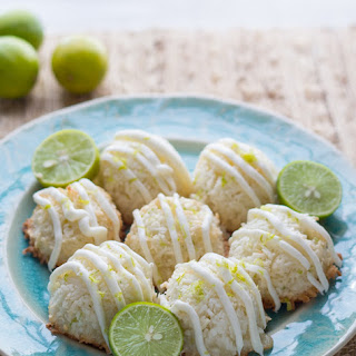 Key Lime and White Chocolate Coconut Macaroons