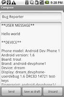 Screenshot of Bug Reporter