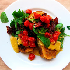 Welsh Rarebit with Prosciutto, Tomatoes, and Spinach
