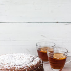 Olive oil and tangerine chocolate cake