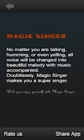 Screenshot of MagicSinger