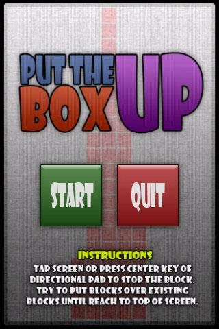 Put The Box Up
