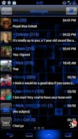 Screenshot of GO SMS Royal Blue Glass Theme