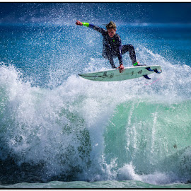In the air by Wessel Badenhorst - Sports & Fitness Surfing
