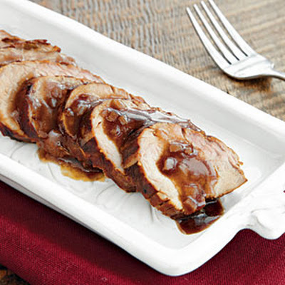 Molasses Pork Tenderloin with Red Wine Sauce