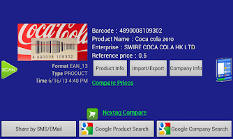 Screenshot of Barcode Helper