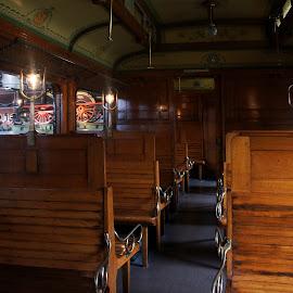 Old train interior by Anita Berghoef - Transportation Trains ( train interior, old, transport, the netherlands, dutch, train, museum, transportation, utrecht, old train )