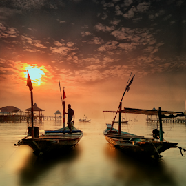 harmony by Ahmad Sahroni - Transportation Boats ( indonesian, kenjeran, boats, fisherman, landscape, surabaya, water, device, transportation )
