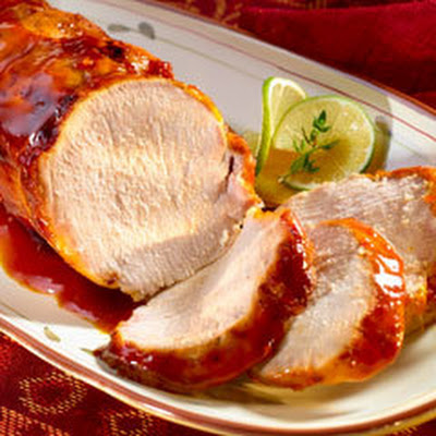 Sazon Pork Loin With Guava Sauce