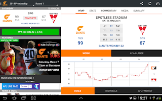 Screenshot of GWS Giants Official App