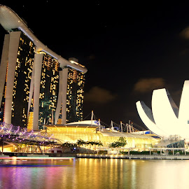 Marina Bay Sands Night Scenery, Singapore by Cristiano Michael - Buildings & Architecture Office Buildings & Hotels