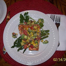Grilled Salmon With Corn, Tomato, and Avocado Relish