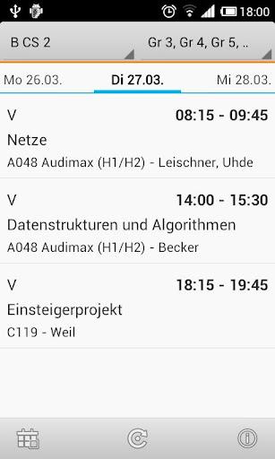 Stundenplan H-BRS FB02