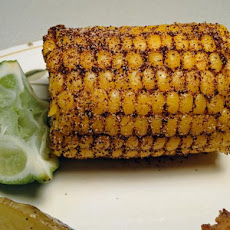 Chili-Lime Rubbed Indian Corn on the Cob