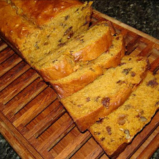 Spicy Pumpkin Bread with Dates, Nuts & Raisins