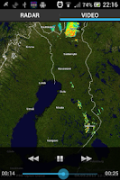 Screenshot of Rainradar Finland
