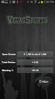 Screenshot of Vegas Sports® bet tracker