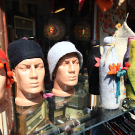 Three Buddies by Rüstem Baç - Artistic Objects Clothing & Accessories ( vintage shops, buddies, vintage hats, accessories )