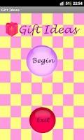 Screenshot of Gift Ideas