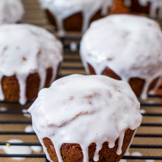 Gingerbread Muffins with Sweet Lemon Glaze