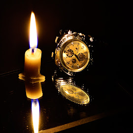 watch in candle light by Mohamed Nuzrath - Abstract Light Painting ( candle, fine art photography, candle light, light,  )