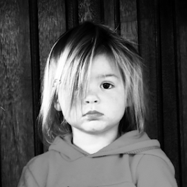 Better Days by Eddie Burger - Babies & Children Toddlers ( girl, black and white, sad, toddlers, toddler )