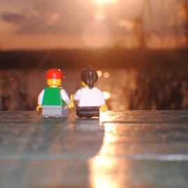 Lego Date by Jon Cody - Artistic Objects Toys ( sunset, toys, landscape, date, lego )