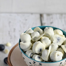 White Chocolate Covered Blueberries