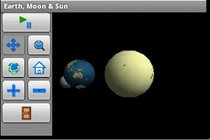 Screenshot of Earth, Moon & Sun