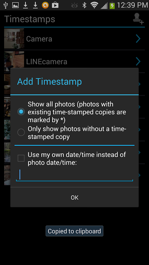 Camera Timestamp Add-on Screenshot 6