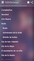Screenshot of Felicitaciones