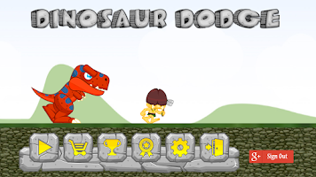Screenshot of Dinosaur Dodge