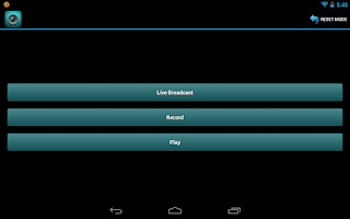 Screenshot of Android Broadcaster