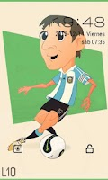 Screenshot of Go Locker Theme Messi