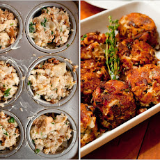 Two-Way Chanterelle and Pear Bread Stuffing