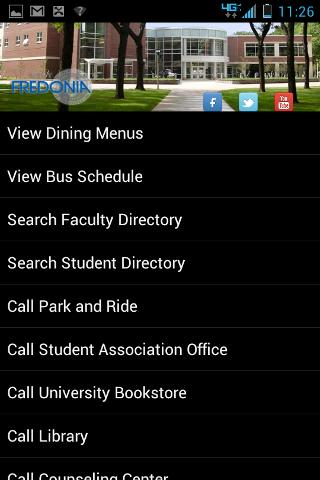 SUNY Fredonia Campus Info