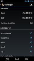 Screenshot of Diabetes Diary
