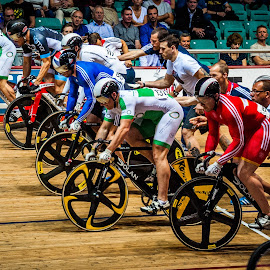 Standing Start by Chris Hartley - Sports & Fitness Cycling ( #fast, #cycling, #trackcycling, #powerful, #keirin, #velodrome )