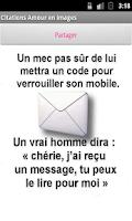 Screenshot of Images d'amour et citations