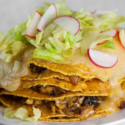 Stacked Chicken Enchiladas