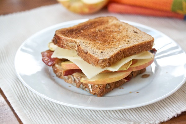 Bacon, Apple and Swiss on Whole Wheat Recipe | Yummly
