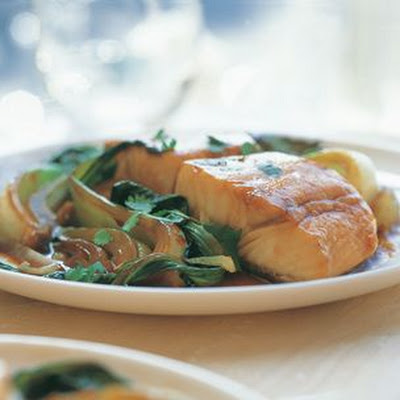 Caramelized Halibut with Bok Choy
