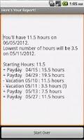 Screenshot of PTO Calc