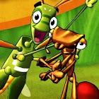 Mrówka i konik polny icon
