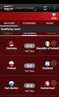 Sport1 TV European Qualifiers - screenshot