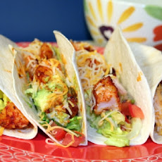 Tabasco Shrimp Tacos with Spiked Sour Cream