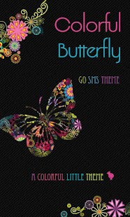 Colorful Butterfly Theme SMS - screenshot