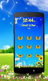 Butterfly Pattern Screen Lock - screenshot