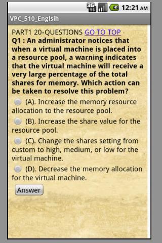 的VMware VCP-510考試英語