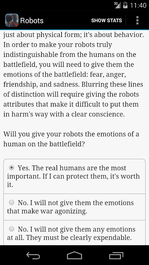 Choice of Robots Screenshot 3